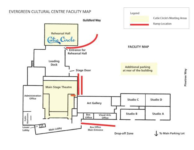 Evergreen Cultural Centre Facility Map