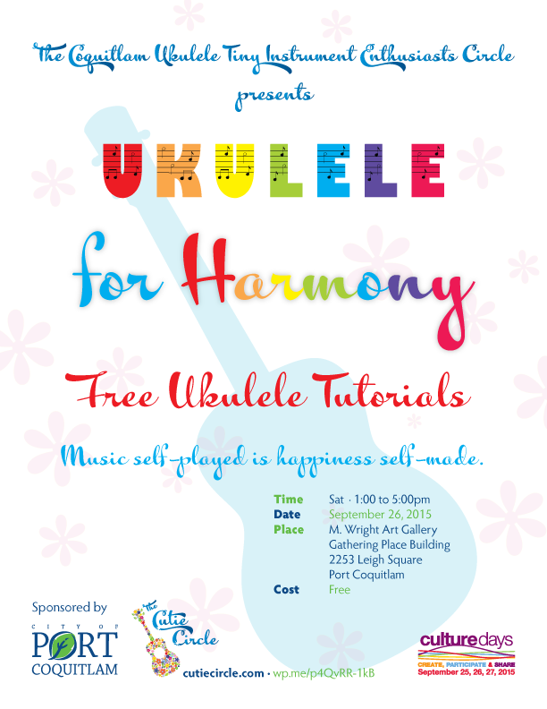 Ukulele For Harmony Tutorials On Culture Days Sep 26 2015 Cutie